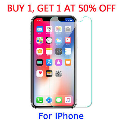 Tempered Glass Screen Protector For iPhone 11 Pro X XR XS MAX 6s 7 8 PLUS 5S SE