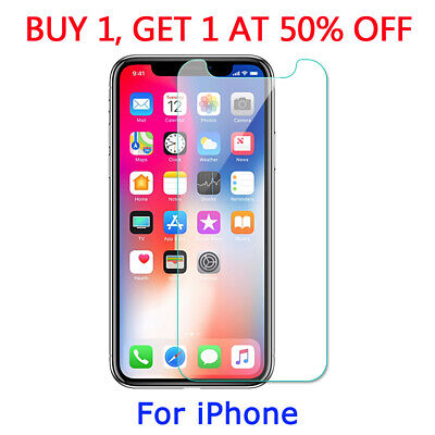 Tempered Glass Screen Protector For iPhone X XR XS MAX 6 6s 7 8 PLUS 5S 5C 4S SE