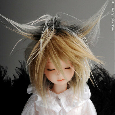 "Dollmore BJD OOAK Supplier MSD Wig /"" FFS Cut Wig 7-8 Peach"