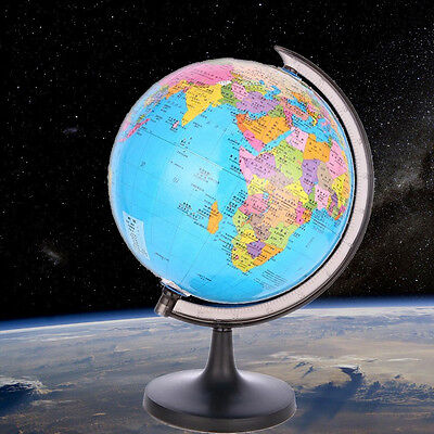 Students Kids Rotating 9cm World Inflate Inflatable Earth Ball Geography Toy