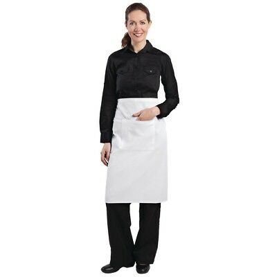 Whites Chefs Apparel Regular Bistro Apron White Chef Kitchen Catering Cooking