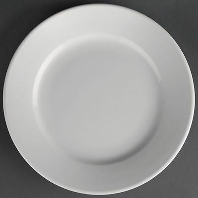 12X Athena Hotelware Wide Rimmed Plates 165mm Service Dinnerware Tableware