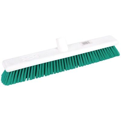 Jantex Hygiene Broom Soft Bristle Green 457mm Floor Cleaning Public Area