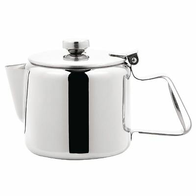 Olympia Concorde Tea Pot 570ml Coffee Cookware Infuser Kitchen Stainless Steel