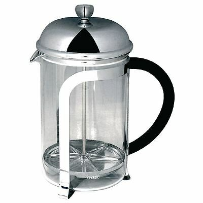 Olympia Cafetiere Chrome Finish 1Ltr Coffee Drink Jugs Kitchen Catering