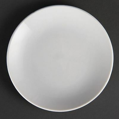 12X Olympia Whiteware Coupe Plates 150mm Restaurant Food Serving Dishes