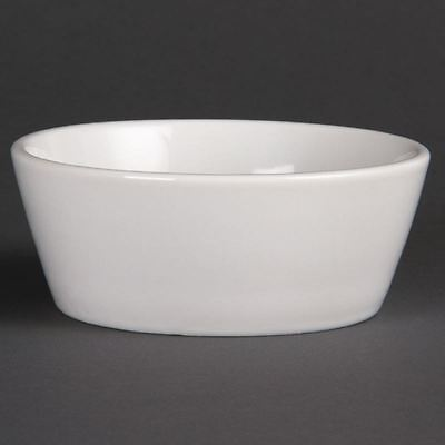12x Olympia Whiteware Sloping Edge Bowls 120mm Kitchen Serving Dishes Tableware