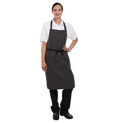 Le Chef Fine Pinstripe Bib Apron Kitchen Catering Cooking Restaurant