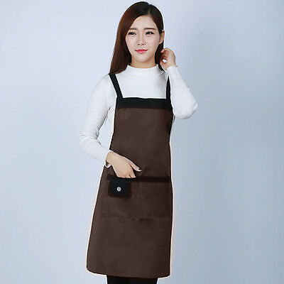 Women's aprons For Chefs Kitchen Cooking Work Pocket