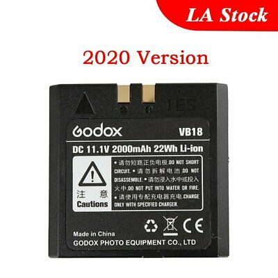 2018 Improved Godox VB18 Li-ion Battery for V850 V860 Flash Speedlite Speedflash