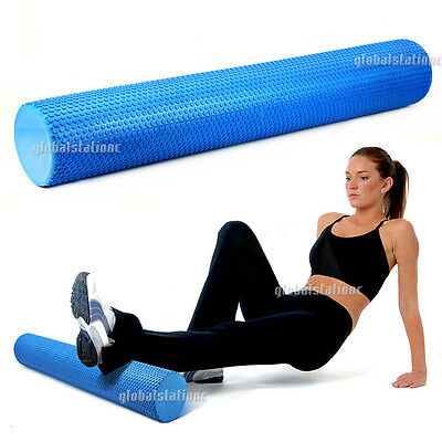 Eva Physio Foam Roller Yoga Pilates Gym Exercise Trigger Massage 90x15cm