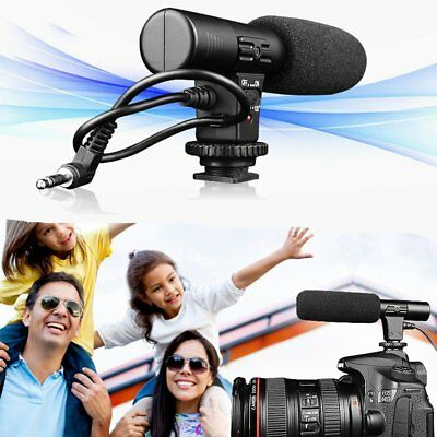 MIC-01 Digital Camera DSLR Studio Stereo Camcorder Recording Mic 3.5mm Shotgun