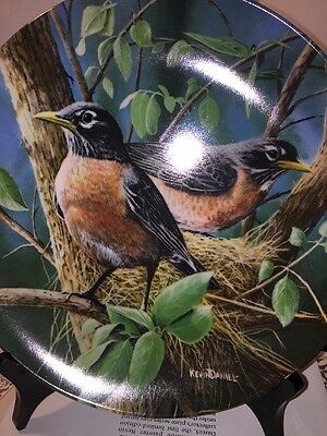Knowles Collectors Plate 1986#5829A The Robin The Birds Of Your Garden Series (E