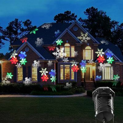 Home Outside Christmas Party Decorative Lamp Light Waterproof Moving Projection