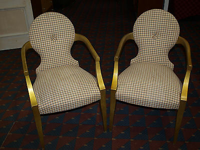 Barn Find. Rare Pair of William L Maclean Collectable High Arm Carver Chairs.