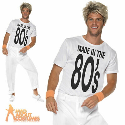 Made in the 80s Costume Wham George Michael Fancy Dress Outfit New