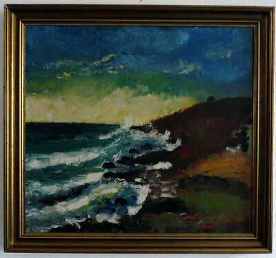 Dramatic Surf, Expressionist, Middle 20th Century