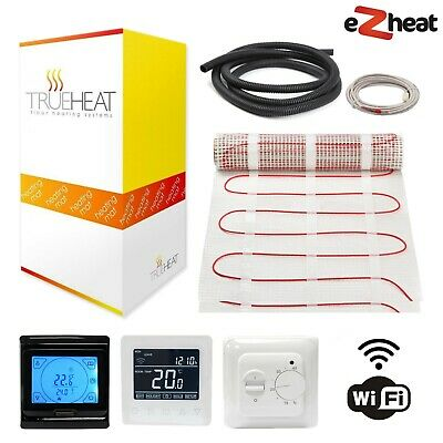 Electric Underfloor Heating Heat Mat Kit 200w/m2 - Multiple sizes + Thermostats
