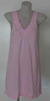 Ladies Pink Nightie Cotton Summer Sleeveless Sleepwear Nightwear Size 8 - 16
