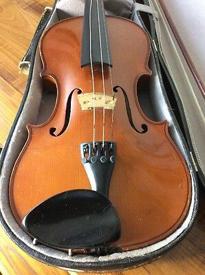 Full Size Vintage Antonius Stradivarius Copy Violin Made In Germany & Chin Rest