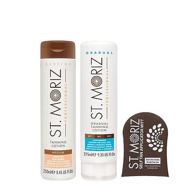 St Moriz Professional Self Tanning Lotion Gift Set in Medium