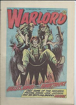 Warlord Comic number 350  June 6th 1981