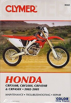 Clymer Workshop Repair Manual Honda Crf250 R Crf250X Crf450 R Crf450X 2002-2005