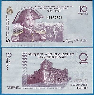 Haiti UNC P-272g New Signature 2016 Commemorative 10 Gourdes