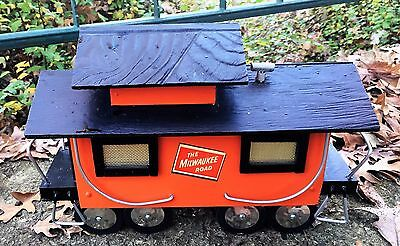 Antique Milwaukee Road Toy Hobby Train Display Railroad Bank Collectible Caboose