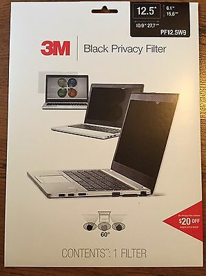 "3M Privacy Filter for Widescreen Laptop Notebook 12.5"" PF12.5W9 - Brand New"