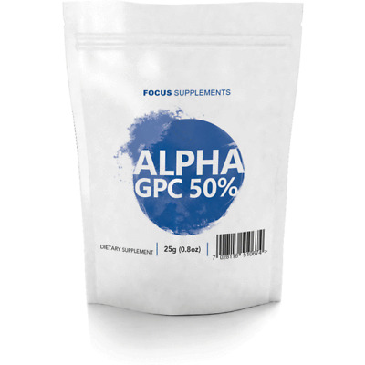 Alpha GPC 50% Powder  |  25g/50g/100g  |  Improve Focus, Memory and Learning