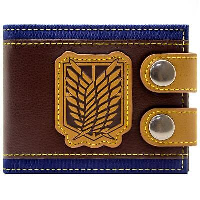 New Official Manga Attack On Titan Wings Of Liberty Id Card Bi-Fold Wallet