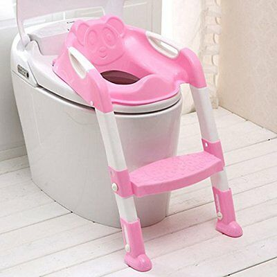 Children Baby Toddler Potty Training Chair Step Toilet Loo Seat Ladder Urinal