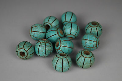 A Fine Collection of Chinese 2thBC Turquoise Bead 十二