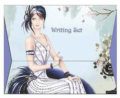 Art Deco Writing Set Includes Writing Paper & Envelopes