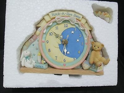 NIB Vtg Adorable Enesco Cherished Teddies Baby Clock New In Box & Mint from 1996