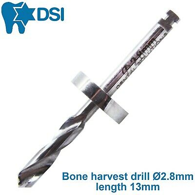 DSI Dental Implant Drill Bur Bone Harvest Solid Stopper Surgical Tool 13mm Ø2.8