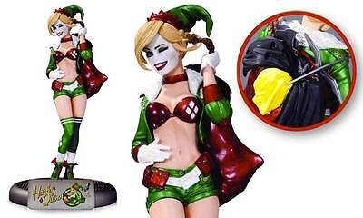 "Batman DC Comics BOMBSHELLS Holiday Variant HARLEY QUINN 10"" Statue LTD Edition"