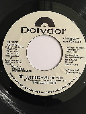 The Gaslight / Just Because Of You / Rare Modern Soul 45