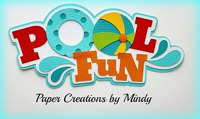 Craftecafe Mindy Pool Fun Swimming Summer premade paper piecing scrapbook Title