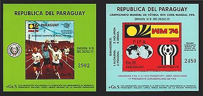 SOCCER FIFA WORLD CUP GERMANY CUP MUNICH  Paraguay MNH S/S # C398- C399 cv$50