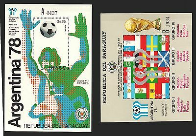 SOCCER FIFA WORLD CUP ARGENTINA SPAIN  Paraguay MNH S/S # C460-1 cv$70