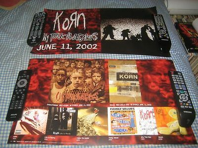 KORN-(untouchables)-1 POSTER-2 SIDED-12X24-NMINT-RARE
