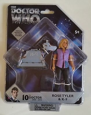 Doctor Who 10th Doctor Rose Tyler & K-9 Action Figures MIP GREAT DEAL!!!