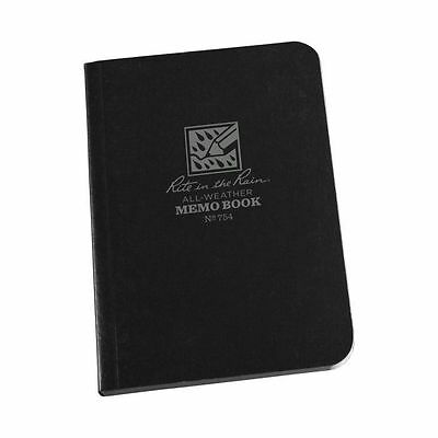 Rite in the Rain 754 All-Weather Universal Field-Flex Pocket Memo Book, Black