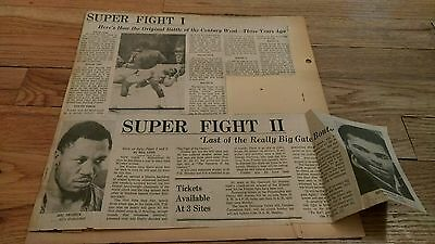 Vintage 70's Boxing Clippings  MUHAMMAD ALI Joe Frazier boxer Heavyweight Champs