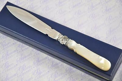 Allan And Darwin Mother Of Pearl & Silver Blade Letter Opener Sheffield 1898