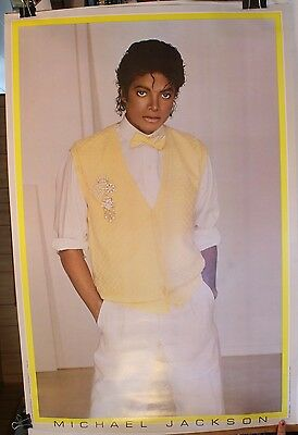 Michael Jackson Yellow Sweater Vest Poster Outfit