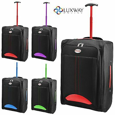 Cabin Travel Bag Wheeled Lightweight Suitcase Hand Luggage Trolley Holdall Hm06