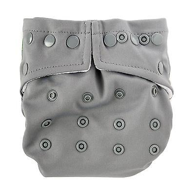 Bumkins One-Size Snap-In-One Cloth Diaper: Gray - All-in-Two/Hybrid Cloth Diaper